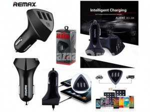 Remax Usb 3port Aliens Car Charger Rcc304