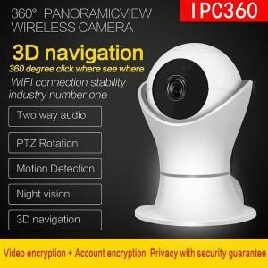 Ip Wirless 3d Navigation Ipc360 Panoramic Camera 1080p