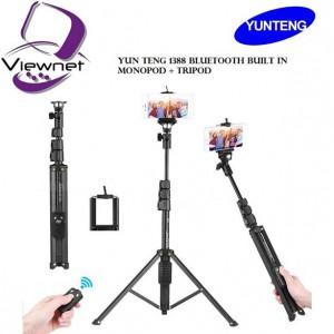 YUNTFNG 1388 Portable Selfie Stick Tripod with Remote Control